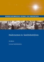 Ondernemen in familiebedrijven - Windesheim