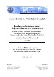 Reinhard Haupt und Armin Scholl - WiWi Fakultät - Friedrich-Schiller ...