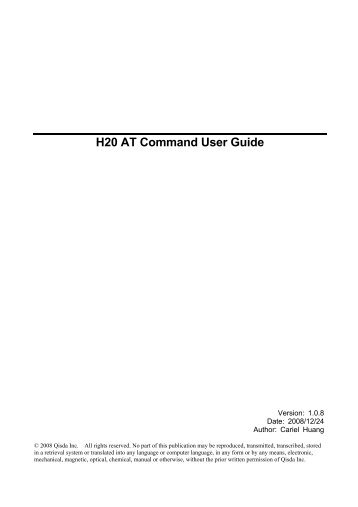 H20 AT Command User Guide - wless.ru