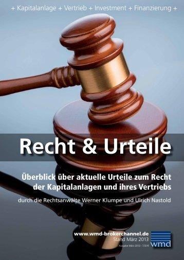 Recht und Urteile - WMD Brokerchannel
