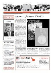 BBZ April 2005 - Berliner Behindertenzeitung