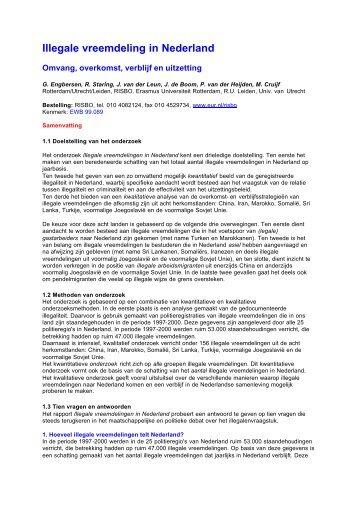 Illegale vreemdeling in Nederland - WODC