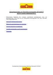 Garantieperiodes en Garantievoorwaarden 2012 ... - WOLF-Garten NL