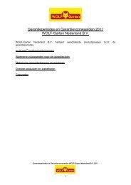 Garantieperiodes en Garantievoorwaarden 2011 ... - WOLF-Garten NL