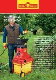 SDE 2500 EVO SDE 2800 EVO SDE 2500 EVO SDE ... - WOLF-Garten