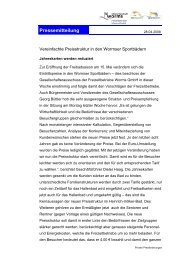Pressemitteilung - Worms