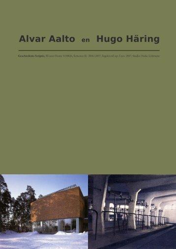Alvar Aalto en Hugo Häring - wouter homs architect/ir.
