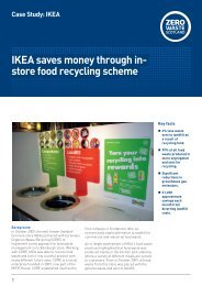 IKEA saves money through in- store food recycling scheme - Wrap