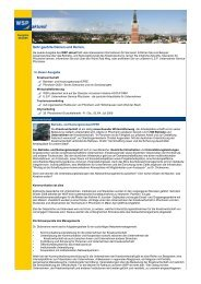 WSP aktuell, Ausgabe Juni 2009 - Wirtschaft und Stadtmarketing ...