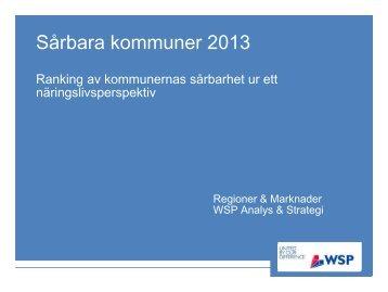 Sveriges mest sårbara kommun - WSP Group