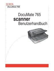 DocuMate 765 Scanner Benutzerhandbuch - Scanners
