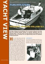 Aquanaut Yachting 'Tijdloos Sterk' - Yacht View