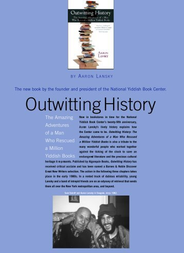 Outwitting History - Yiddish Book Center