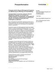 Yokogawa startet Lifecycle Management Programm zur Optimierung ...