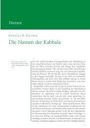 Andreas B. Kilcher: Die Namen der Kabbala (PDF) - Zeitschrift für ...