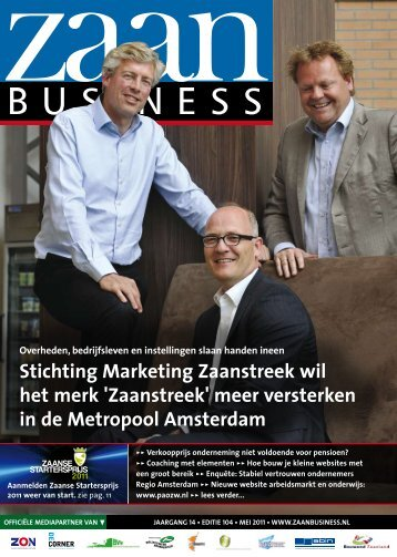 Stichting Marketing Zaanstreek wil het merk ... - Zaanbusiness