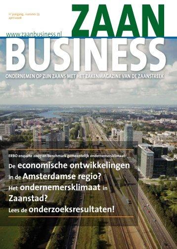 De economische ontwikkelingen in de ... - Zaanbusiness