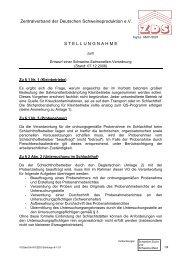 ZDS-Stellungnahme zum Entwurf einer Salmonellen-Verordnung