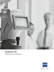 IOLMaster 500 Biometrie neu definiert - Carl Zeiss