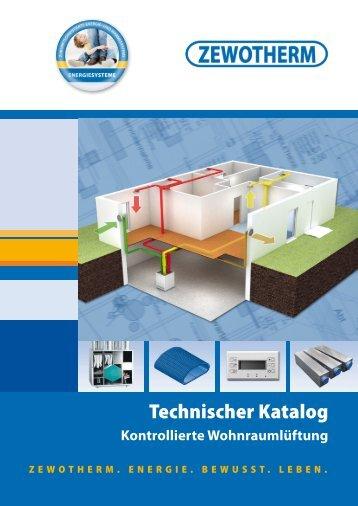 Technischer Katalog - Zewotherm