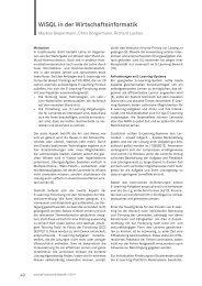 WiSQL in der Wirtschaftsinformatik - im zhb - TU Dortmund