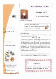 Nieuwsbrief oktober 2012 - St. Mattheusschool
