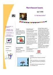 Nieuwsbrief april 2008 - St. Mattheusschool