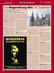 Studenten-Aktion im April - Regensburger  Stadtzeitung
