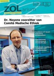 Dr. Noyens voorzitter van Comité Medische Ethiek - Ziekenhuis Oost ...