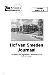 Maart 2012 - Zorggroep Oude en Nieuwe Land