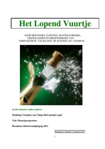 Januari 2012 - Zorggroep Oude en Nieuwe Land