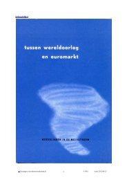 Tussen wereldoorlog en euromarkt - Zuivelhistorie Nederland