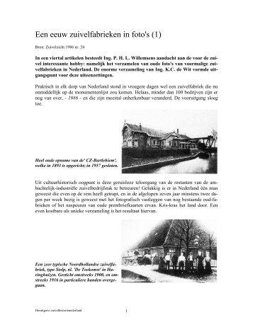 Een eeuw zuivelfabrieken in foto's (1) - Zuivelhistorie Nederland