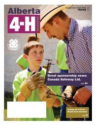 Alberta 4-H Magazine Winter 2008 - Agriculture and Rural ...