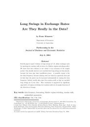 Long Swings in Exchange Rates: Are They Really in the Data?