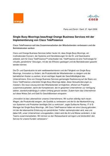 Single Buoy Moorings beauftragt Orange Business Services mit der ...