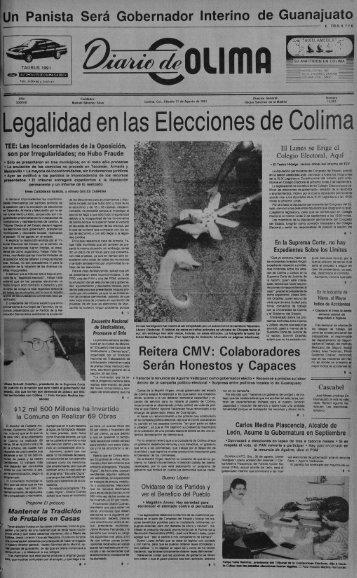 Legalidad en las Eleccionesde Colima - Universidad de Colima