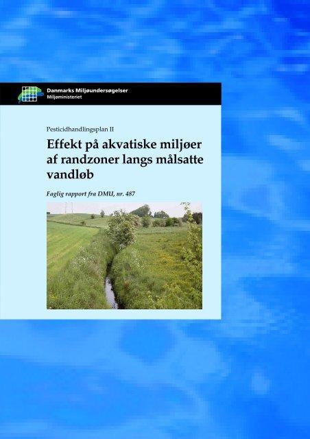 Effekt på akvatiske miljøer af randzoner langs målsatte vandløb