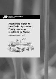 Regulering af jagt på vandfugle i kystzonen: Forsøg med ...