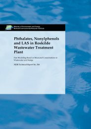 Phthalates, Nonylphenols and LAS in Roskilde Wastewater ...