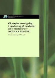 Økologisk overvågning i vandløb og på vandløbsnære arealer under ...