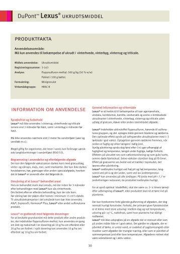 Klik her for at læse produktbeskrivelsen om Lexus. - DuPont