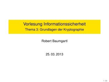 Teil 3: Grundlagen der Kryptographie 2