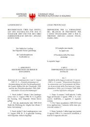 Vom Plenum genehmigter Text - Südtiroler Landtag