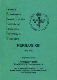 PERILUS 13 - 1991
