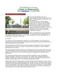 Islam in Österreich - KURRIER Serie
