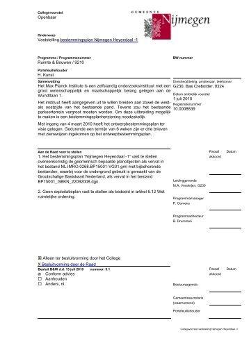 Collegebesluit met bijlagen - Gemeente Nijmegen
