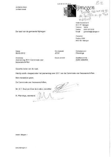 Brief d.d. 8 juni 2012 - Gemeente Nijmegen