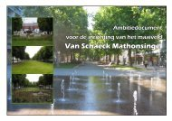Ambitiedocument van Schaeck Mathonsingel - Gemeente Nijmegen