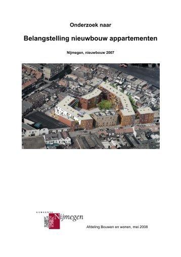 Belangstelling nieuwbouw appartementen 2007 (mei 2008)